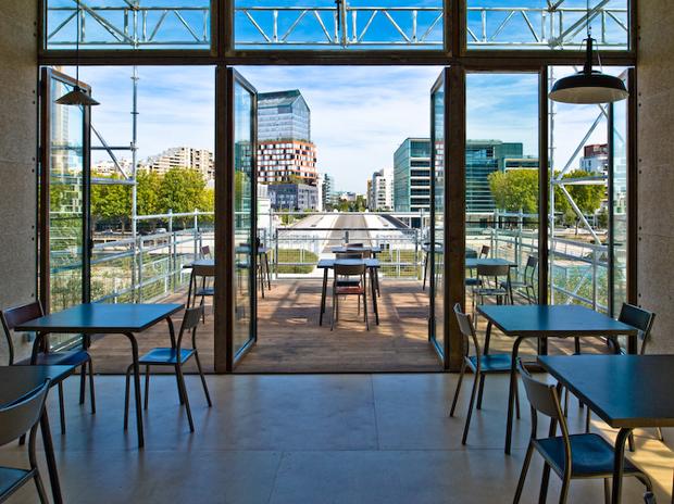 Les grandes tables de l le seguin bio restaurant - Table jardin verre alu boulogne billancourt ...