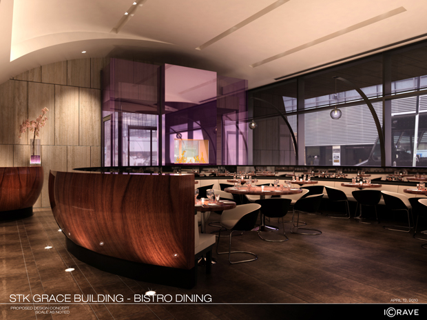 Stk midtown steakhouse restaurant lounge midtown west for Best private dining rooms midtown