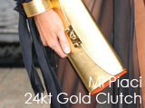 Culture Divine - Mi Piaci 24kt Gold Clutch, Presentation, New York